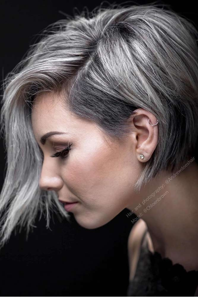33 short grey hair cuts and styles lovehairstyles Short Haircuts For Salt And Pepper Hair Ideas
