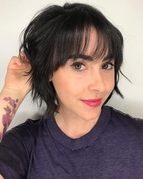 Awesome 23 short hair with bangs hairstyle ideas photos included Short Hair With Full Fringe Inspirations