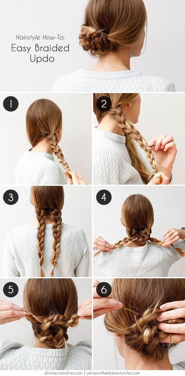 Awesome an easy braided hairstyle for any occasion more hair Easy Braided Updos For Shoulder Length Hair Inspirations