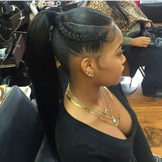 fly ponytail because sometimes simplicity speaks volumes African American Weave Ponytail Hairstyles