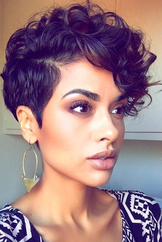 Stylish pin on hair Black Woman Short Hair Styles Ideas