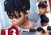 13 natural hair updo hairstyles you can create African American Hairstyles To Do At Home