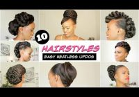 Awesome 2018 spring summer natural hairstyles for black women African American Updo Hairstyles Designs
