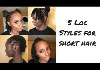 Awesome 21 super simple styles for starter locs shortmedium locs Hair Styles For Short Locs Inspirations