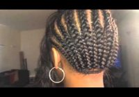 Awesome braid pattern for a silk closure full sew in Ways To Braid Your Hair For A Sew In Choices