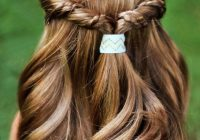Awesome doll hairstyle easy half up twist with braids american Hairstyles For American Girl Dolls Easy Designs