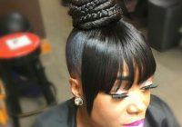 Best natural style black hair updo hairstyles hair weave African American Weave Ponytail Hairstyles Designs