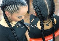Best two braids hairstyles ideas trending in december 2020 African American Big Braids