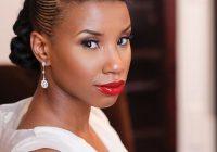 Elegant 50 superb black wedding hairstyles natural updo natural African Wedding Hairstyles Braids Ideas