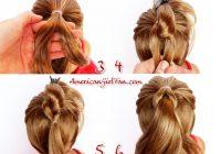 Elegant american girl doll hairstyle christmas tree pull through American Girl Dolls Hair Styles