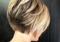 Elegant back view of short layered haircuts the undercut bob Short Haircuts Back View Stacked Ideas