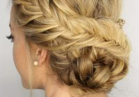 Elegant fishtail braided updo braided hairstyles updo hair styles Hair Up Braid Styles Ideas