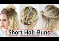 Elegant quick bun hairstyles for short medium hair hair tutorial Best Quick Hairstyles For Short Hair Choices