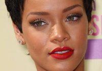 Elegant rihanna short hairstyles 2020 front and back view Rihanna Short Hair Styles Inspirations
