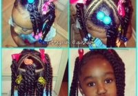 Elegant wow that x part is neat ponytails with twists african African American Little Girl Braid Hairstyles