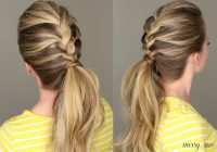 Fresh 21 braids for long hair with step step tutorials Easy Braided Updos For Shoulder Length Hair Choices