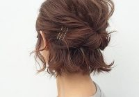 Fresh 50 cool ways you can sport updos for short hair hair Easy Half Up Half Down Hairstyles For Short Hair Choices