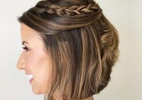 Stylish 19 cute easy updos for short hair Easy Updo Hairstyles For Short Length Hair Ideas