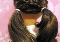 Stylish cross over pigtails in 2020 american girl hairstyles American Girl Dolls Hair Styles