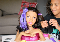 Stylish gifting the joy of barbie about a mom African American Hair Styling Doll Head