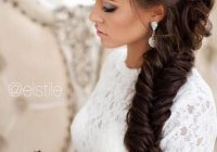 Stylish stunning wedding hairstyles with braids for amazing look in Fishtail Braid Hairstyles For Wedding Choices