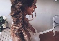 Stylish top 14 effortless braids long hair styles messy Fishtail Braid Hairstyles For Wedding Ideas