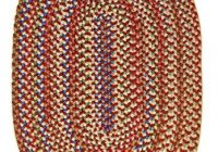 super area rugs american made braided rug for indoor outdoor spaces rednatural multi colored 2 x 3 oval American Made Braided Rugs
