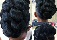 Trend 40 cute updos for natural hair the right hairstyles for Braided Updo African American Ideas