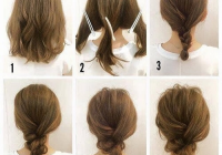 Trend 60 easy updos for medium hair you can do yourself hair Easy Updo Hairstyles For Short Length Hair Choices