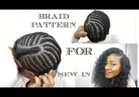 Trend braid pattern for sew in weave diy youtube Ways To Braid Your Hair For A Sew In Ideas