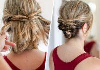 Trend quick messy updo for short hair short hair styles short Easy Updo Hairstyles For Short Length Hair Ideas