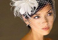 wedding hair styles to wear with birdcage veils wedding Fascinators For Short Hair Styles Ideas